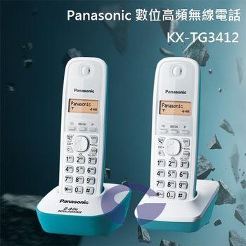 【Panasonic】2.4GHz數位無線電話 KX-TG3412 (水漾藍)