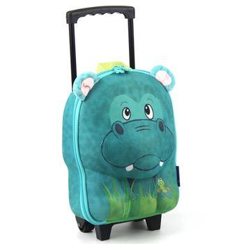 【德國okiedog】兒童3D動物造型拉桿式行李箱(河馬)