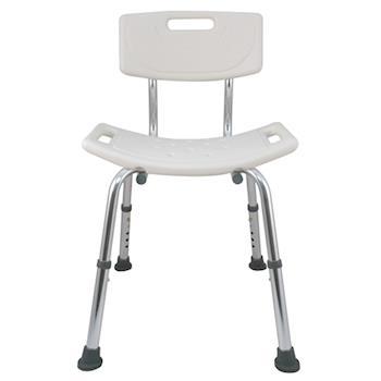 【舞動創意】輕量化鋁質可昇降浴室防滑洗澡椅(靠背)