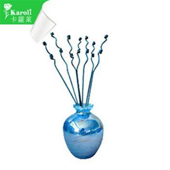 【karoli】卡蘿萊精油蘆葦棒薰香琉璃藍瓶組(檀香)