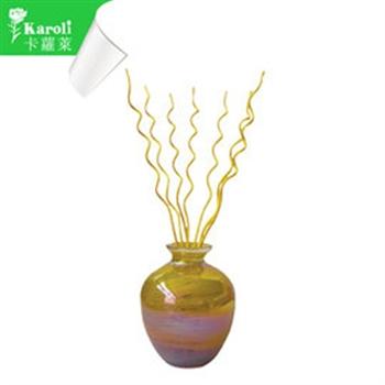 【karoli】卡蘿萊精油蘆葦棒薰香琉璃黃瓶組(檀香)