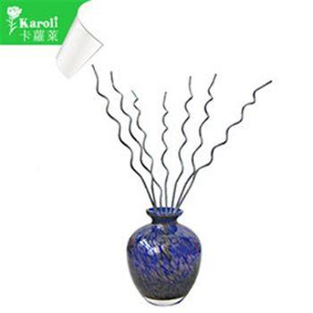 【karoli】卡蘿萊精油蘆葦棒薰香琉璃深藍瓶組(檀香)