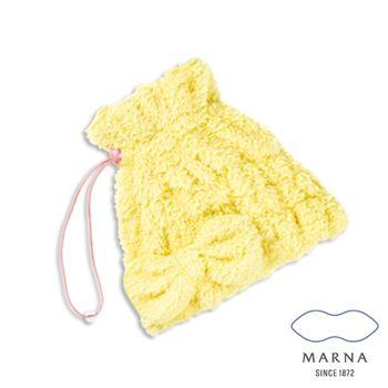 【MARNA】多用途浴巾帽(黃)