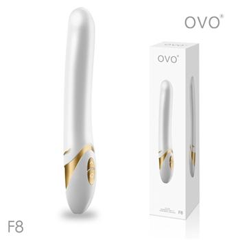 德國OVO-F8 萊恩 5段變頻 多功能 G點震動按摩棒-白金色