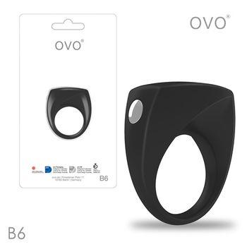 德國OVO-B6 前衛男性 矽膠靜音時尚震動環-黑色