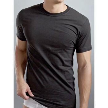 2XIST 2014時尚圓領短袖黑色內衣3件組