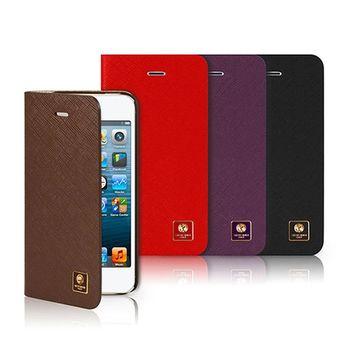 SOTANIA iPhone 5/5S 專用 側開高級皮革保護套