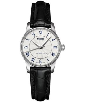 MIDO 羅馬假期機械女錶-銀/黑 M76004214