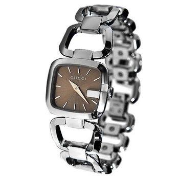 GUCCI 時尚咖啡面女腕錶 YA125402