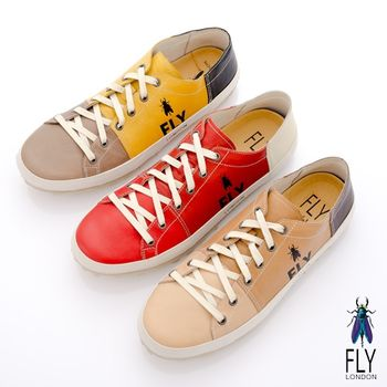 Fly London(男)★宅型男御用 撞色牛皮休閒鞋