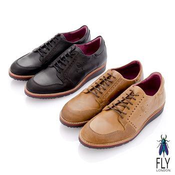 Fly London(男)★誰穿誰 尖頭牛津雙料休閒鞋