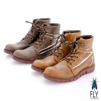 Fly London(男)★英式狼痕 野戰綁帶中筒短靴