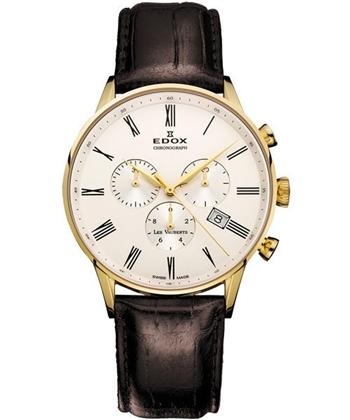 EDOX 競速羅馬腕錶白/金框E10408.37JA.AR