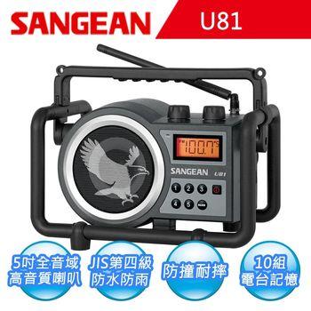【SANGEAN】二波段 數位式職場收音機U81