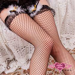 玩美心機 性感蕾東森購物服務電話絲彈性透膚大腿網襪(黑)PP2104