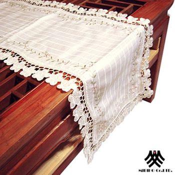 【M.B.H】翠緹花園縷空刺繡檯布(38x178cm)