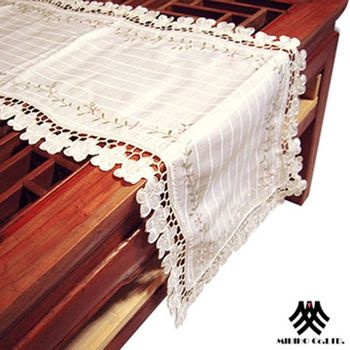 【M.B.H】翠緹花園縷空刺繡檯布(38x130cm)