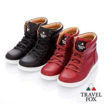 Travel Fox(女) BOXER 全彩白底高筒運動鞋