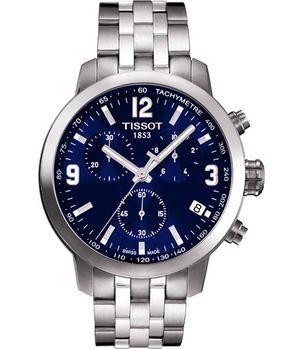 TISSOT 競速三眼計時腕錶-藍/銀T0554171104700