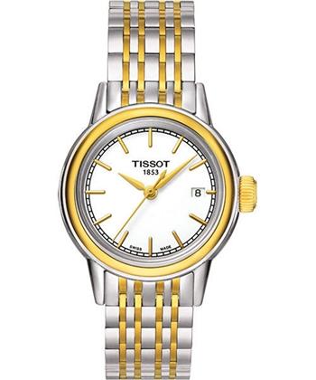 TISSOT 經典石英女錶-白/雙色版T0852102201100