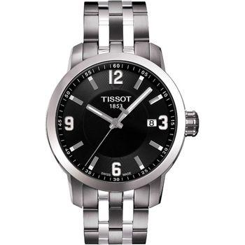 TISSOT PRC200都會腕錶黑銀T0554101105700
