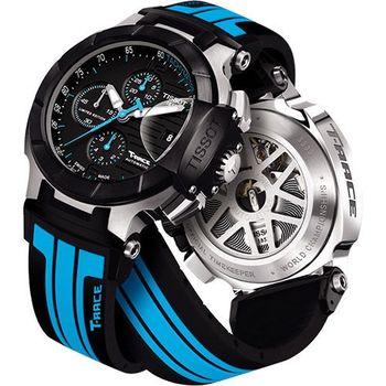 TISSOT專業限量賽車機械腕錶-黑T0484272705702