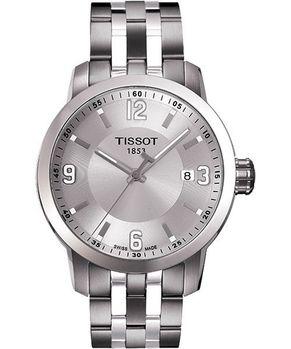TISSOT 都會石英腕錶-銀T0554101103700