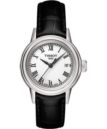 TISSOT 羅馬石英女錶-白/黑 T0852101601300