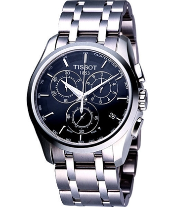 TISSOT 建構師系列計時錶-黑T0356171105100