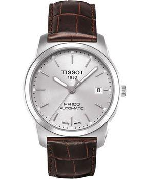 TISSOT 都會紳士機械腕錶-銀咖啡T0494071603100
