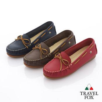 Travel Fox(女) 旅狐休閒鞋 義想飛飛蝴蝶結豆豆休閒鞋