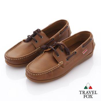 Travel Fox(男) 旅狐情侶款帆船鞋 經典款奧耶帆船鞋