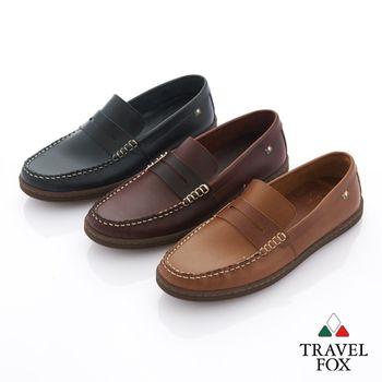 Travel Fox(男) 教父原味 植染蠟皮直套手工旅狐休閒鞋