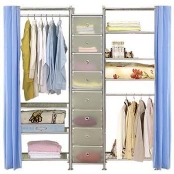 【巴塞隆納】W4型60+D+W5型60衣櫥置物櫃