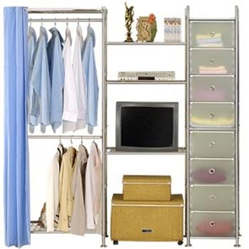 【巴塞隆納】W2型60+60+D電視衣櫥置物櫃