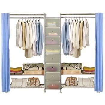 【巴塞隆納】W3型90+D+W3型90衣櫥置物櫃