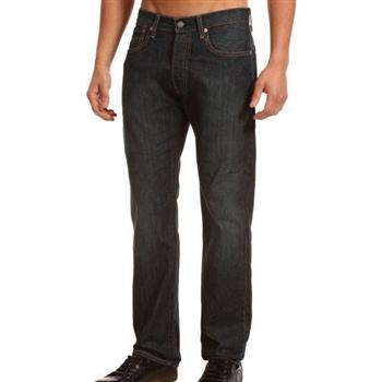 Levi's 501經典鈕扣DrainP低腰合身黑色牛仔褲