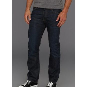 Levi's 501經典鈕扣低腰合身藍道色牛仔褲
