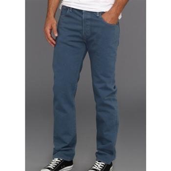 Levi's 501經典鈕扣低腰合身午夜藍牛仔褲