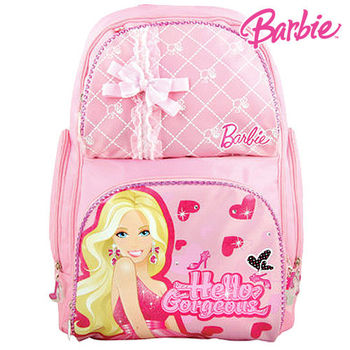 【BARBIE】芭比PINK GIRL雙肩書包C(粉紅)(送水壺)
