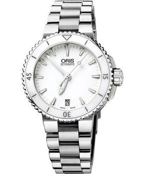 Oris時間之海專業潛水腕錶白/銀733.7652.41.56MB