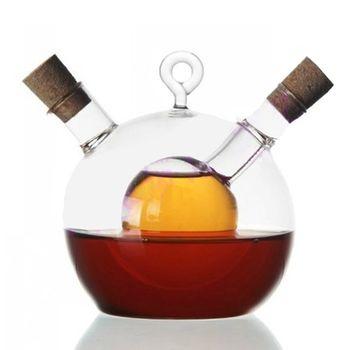 PUSH! 廚房用品餐具醋瓶醬油瓶油瓶調味瓶(人工吹製)
