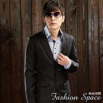 時尚空間 都市著用條紋窄版西裝外套【609】附贈西裝防塵袋