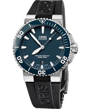 ORIS時間之海機械腕錶藍綠/橡膠733.7653.41.55RS