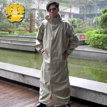 【天德牌】隨你變專利三用連身雨衣(淺灰)