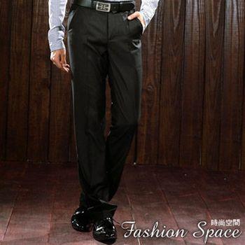 時尚空間 熟男基本御用細緻藍條紋中低腰直筒西裝褲【FS809】