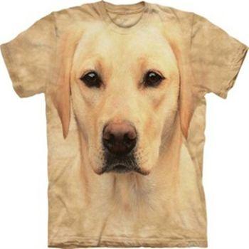 【摩達客】預購-The Mountain黃拉不拉多犬臉設計T恤(男)