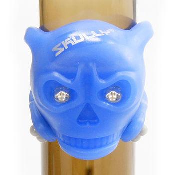 【SKULLY】自行車後燈 警示骷髏燈2128-324-藍