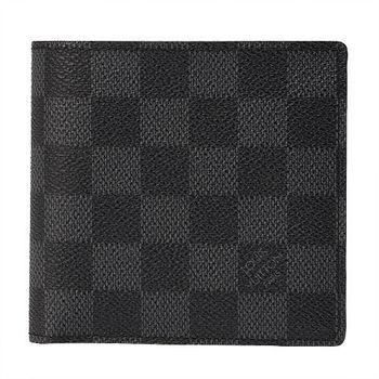 LV N62664 經典DamierMARCO零錢袋短夾(黑灰色)