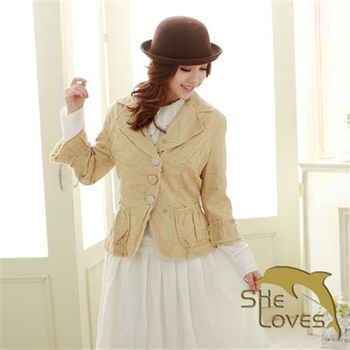 【SHELOVES 喜樂絲】復古輕柔時尚小外套